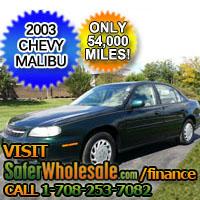 2003 Cheap Used Green Chevy Malibu Vehicle - Low Price Car