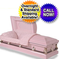 20 Gauge Steel Casket - Soft Pink