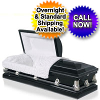 20 Gauge Steel Casket - Ebony Finish