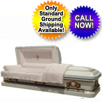 18 Gauge Antique White Casket