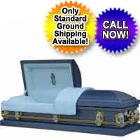 18 Gauge Mary Blue Casket