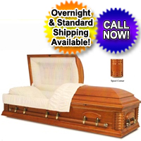 Solid Wood Casket Cherry/Gloss Cherry