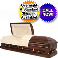 Solid Wood Casket Mohagany/Satin