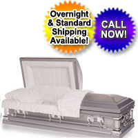 Stainless Steel Platinum Finish Casket
