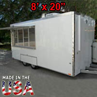 Fully Equipped 8' Wide x 20' Long Concession Trailer