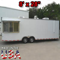 Fully Equipped 8' Wide x 28' Long Concession Trailer