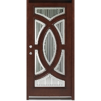 "Solid Mahogany 36"" Single Circle Deluxe Door Unit"
