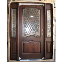 Triple Cherry Deluxe Eyebrow GL36 Solid Wood Entry Door