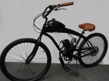 80cc gas bike dewey bicycle with engine stretch street. Black Bedroom Furniture Sets. Home Design Ideas