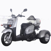50cc PST50-9 Mini Cruzzer Air Cooled Single Cylinder 4-Stroke Trike Moped Scooter