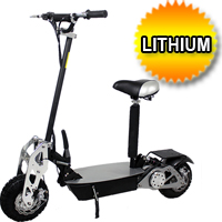 2015 Super Turbo Chrome 1200 watt Lithium Electric Scooter