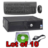 Dell P4 2.8GHz Desktop Computer V2 1GB Windows XP Pro - Lot of 10