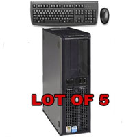 Dell Desktop Computer P4 3.4 GHz, 3GB  RAM, 160GB HD - Lot of 5
