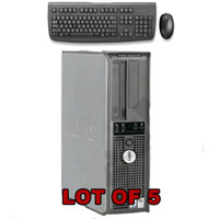 Dell Desktop Computer P4 3.0GHz, 1GB, 80 GB HD + Keyboard & Mouse - Lot of 5