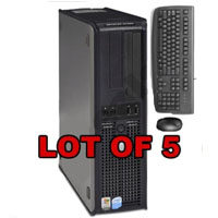 Dell Desktop Computer 3.0GHz 1GB 40GB + Keyboard & Mouse - Lot of 5