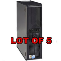 Dell P4 3.0GHz Desktop Computer V2 2GB 80GB HDD Windows XP - Lot of 5