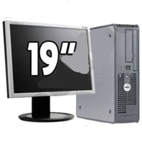 "Dell P4 Desktop Computer 3.0GHz 1GB RAM 40GB HD + 19"" Monitor"