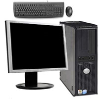 "Dell Desktop Computer 1GB RAM P4 2.8GHz 40 GB HD + 17"" Monitor, Keyboard & Mouse"