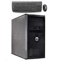 Dell Desktop Computer Intel Core 2 Duo 2.4 GHz, 2GB RAM 160GB HD + Keyboard & Mouse