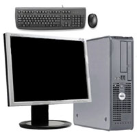 "Dell Desktop Computer Tower 3GHz, 1GB RAM, 80GB HD + 19"" Monitor, Keyboard & Mouse"