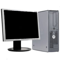 High Quality Dell 2.8GHz, 2GB RAM, 80GB HD Desktop Computer Tower and Monitor