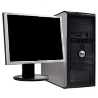 "Dell Desktop Computer Tower 2.4GHz, 4GB RAM, 160GB HD + 19"" Monitor"