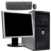 "Dell Desktop Computer Tower Pentium D 3.2GHz, 4GB RAM, 160GB HD + 20"" LCD Monitor, Keyboard & Mouse"