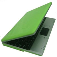 "Brand New 300MHZ Green 7"" Mini Netbook Laptop Notebook With WIFI"