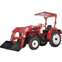 High Quality 20HP 4WD Tractor w/ Front End Loader & Agricultural Tires