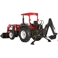 Brand New 50 HP Tractor w/ Front End Loader + Backhoe + Turf Tires