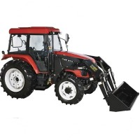 High Quality 82 HP 4WD Tractor w/ Front End Loader & Agricultural Tires