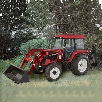 High Quality 82 HP 4WD Tractor w/ Front End Loader + Backhoe + Agricultural Tires