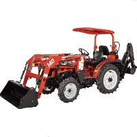 Brand New 25 HP 4WD Tractor w/ Front End Loader + Backhoe + Agricultural Tires