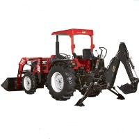 Brand New 40 HP 4WD Tractor w/ Loader + Backhoe + Agricultural Tires