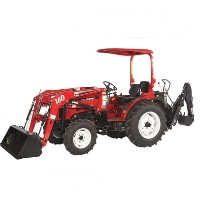 High Quality 35HP 4WD Tractor w/ Front End Loader & Agricultural Tires
