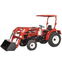 High Quality 20HP 4WD Tractor w/ Front End Loader & Turf Tires
