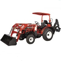 Brand New 25 HP 4WD Tractor w/ Front End Loader + Backhoe + Turf Tires