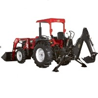 Brand New 40 HP 4WD Tractor w/ Loader + Backhoe + Turf Tires