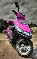 Pink 500 Watt Electric Trooper Scooter