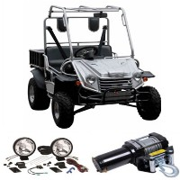 200cc Big Buck UTV All Terrain Vehicle w/ 3000 lbs Winch + Light Kit Included