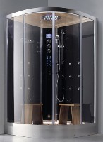 "Zen Brand New 2 Person Walk In Corner Steam Shower - 47"" x 47"" x 89"""