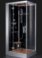 Zen Brand New Compact Computerized Walk In Steam Shower