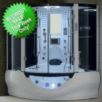 Brand New White Steam Shower/Whirlpool Bathtub with Massage