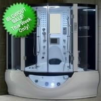 Brand New White Steam Shower/Whirlpool Bathtub with Massage
