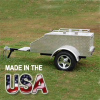 "60"" x 28"" x 19"" Aluminum Enclosed Motorcycle / Car Trailer - Made in USA"
