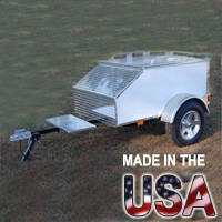"60"" x 36"" x 24"" Aluminum Enclosed Motorcycle / Car Trailer - Made in USA"
