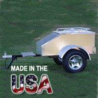 "48"" x 28"" x 19"" Aluminum Motorcycle / Car Trailer - Made in USA"