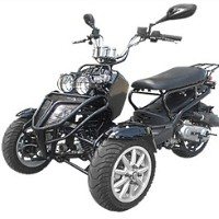 150cc Three-Wheel Ruckus Style Trike Scooter Moped