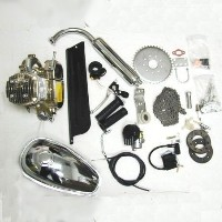 Complete Chrome 80cc Motor Bicycle Engine Kit w/ Chrome Tank