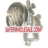 Gas Bike Engine - 3 Chrome Carburetor